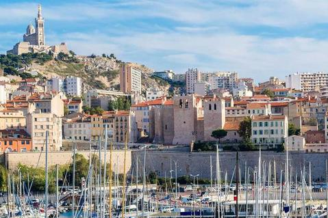 buildings in Marseille, France