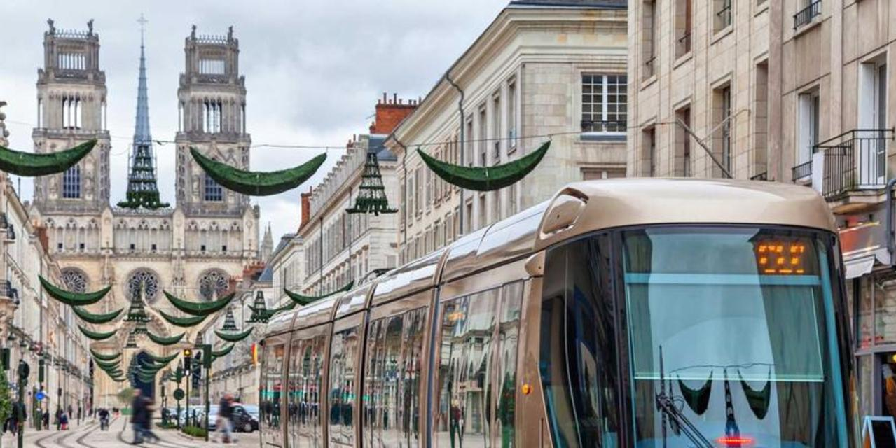 city and bus in Orleans, France